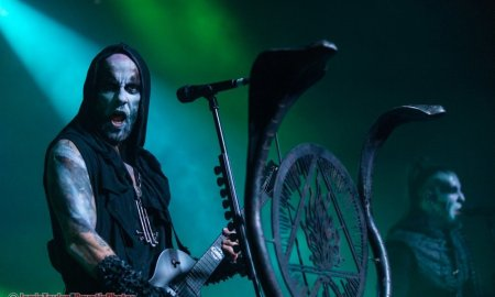 Musician Nergal of Behemoth performing at The Commodore Ballroom in Vancouver, BC on November 19th, 2018