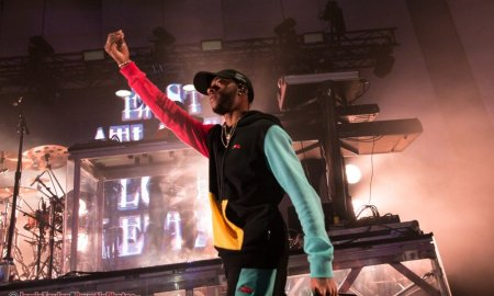 Baltimore rapper 6lack performing at the Harbour Event Centre in Vancouver, BC on November 29th, 2018