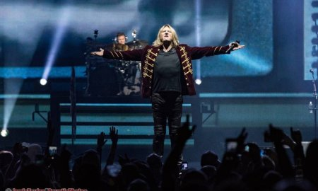 UK band Def Leppard performing at Rogers Arena in Vancouver, BC on October 1st, 2018