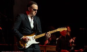 American blues-rock guitarist, singer and songwriter Joe Bonamassa performing at the Queen Elizabeth Theatre in Vancouver, BC on December 1st, 2018.