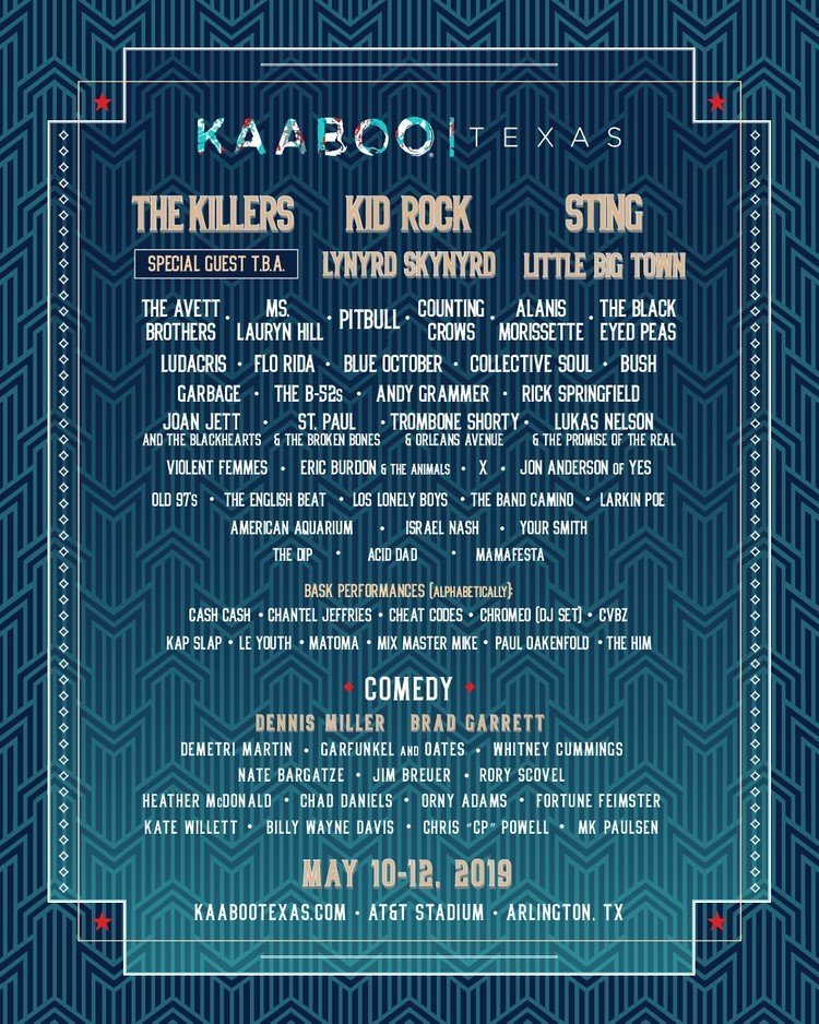 Kaboo Texas 2019 at AT&T Stadium (Texas) - May 10th, 2019