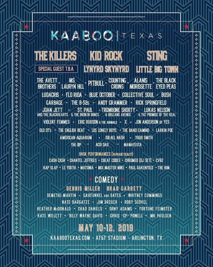 Kaboo Texas 2019 at AT&T Stadium (Texas) - May 10th, 2019