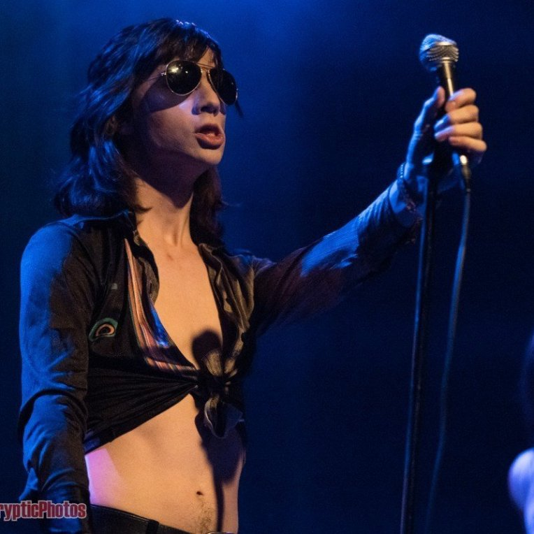 Michael D'Addario of The Lemon Twigs performing at Venue Nightclub in Vancouver, BC on January 30th, 2019
