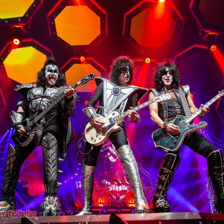"""American rock band KISS during their """"The End Of The Road Tour"""" performing at Rogers Arena in Vancouver, BC on January 31st, 2019"""