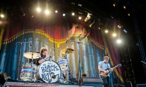 American blues rock band The Black Keys performing at Pemberton Music Festival in Pemberton, BC on July 17th 2015