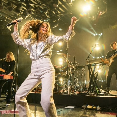 American singer-songwriter Maggie Rogers performing at the Commodore Ballroom in Vancouver, BC on April 17th, 2019