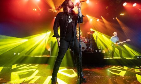 Singer Adam Lazzara of Taking Back Sunday performing at The Commodore Ballroom in vancouver, BC on April 21st, 2019