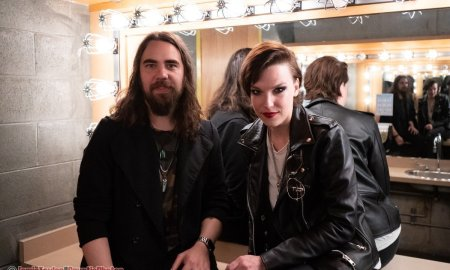 Lzzy Hale and Joe Hottinger of American rock band Halestorm at Chan Centre for the Performing Arts at UBC in Vancouver, BC, Canada on April 26th, 2019