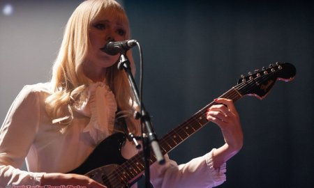 Musician Ruth Radelet of American electronic music band Chromatics performing at The Vogue Theatre in Vancouver, BC on June 6th, 2019.