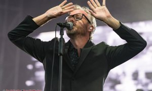 American singer-songwriter Matt Berninger of The National performing at Deer Lake Park in Burnaby, BC on August 28th, 2019