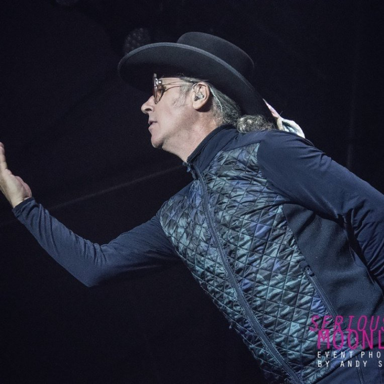 Singer Ed Roland of Collective Soul performing at the PNE Amphitheathre in Vancouver, BC on August 24th, 2019