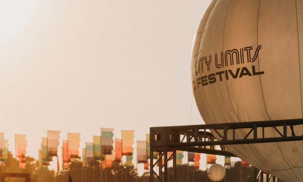 Ballon signage at Austin City Limits Music Festival at Zilker Metropolitan Park in Austin, TX on October 4th, 2019