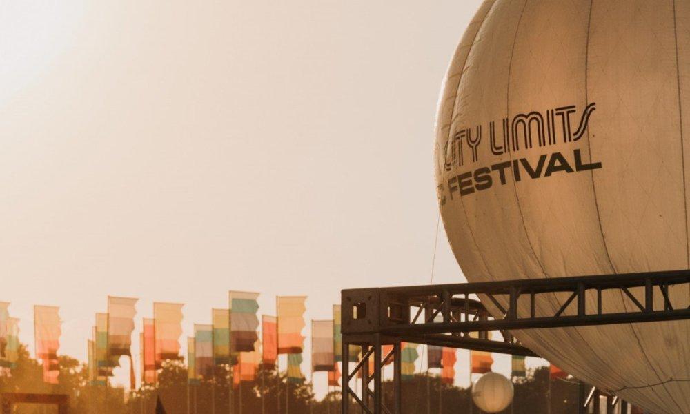 Ballon signage at Austin City Limits Music Festival at Zilker Metropolitan Park in Austin, TX on October 4th, 2019