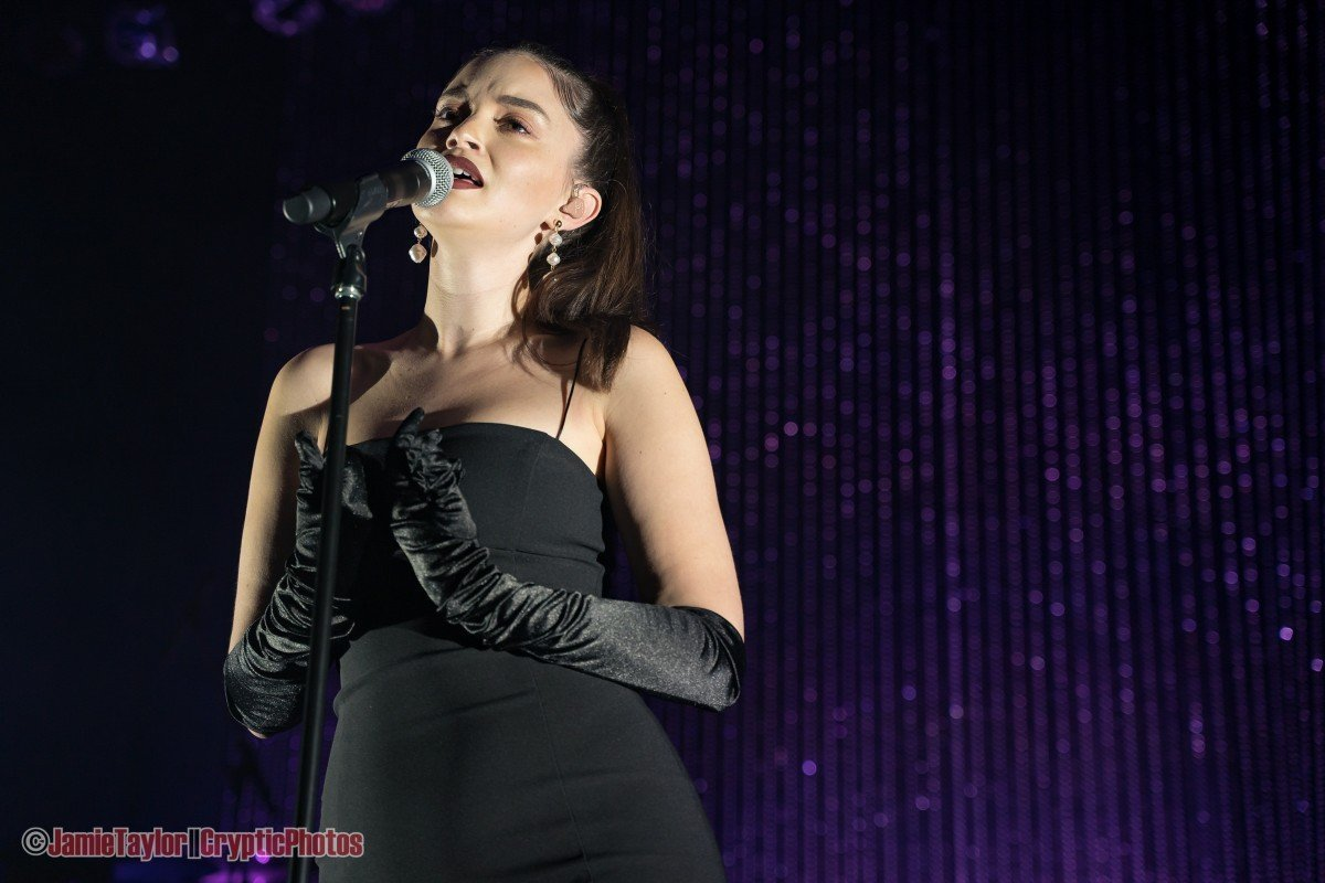 American singer Sabrina Claudio performing at The Vogue Theatre in Vancouver, BC on October 1st 2019