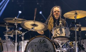 Drummer Barry Kerch of American rock band Shinedown performing at the Abbotsford Centre in Abbotsford, BC on October 16th, 2019