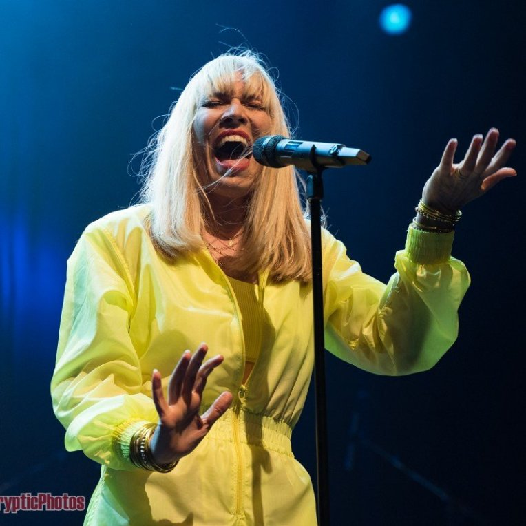 English singer-songwriter Natasha Bedingfield performing at The Vogue Theatre in Vancouver, BC on October 28th, 2019