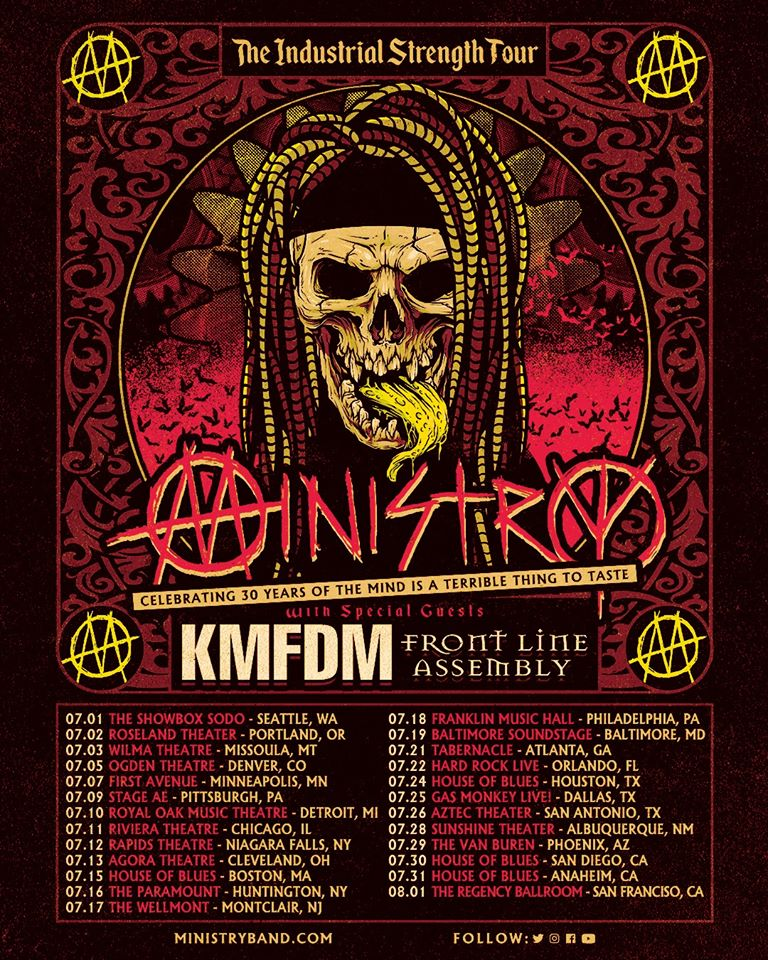 "Ministry Announces 2020 ""The Industrial Strength Tour"""