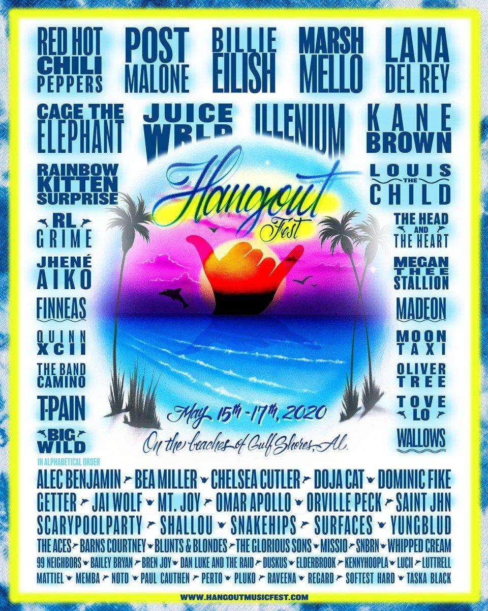 hangout music festival 2020 lineup poster