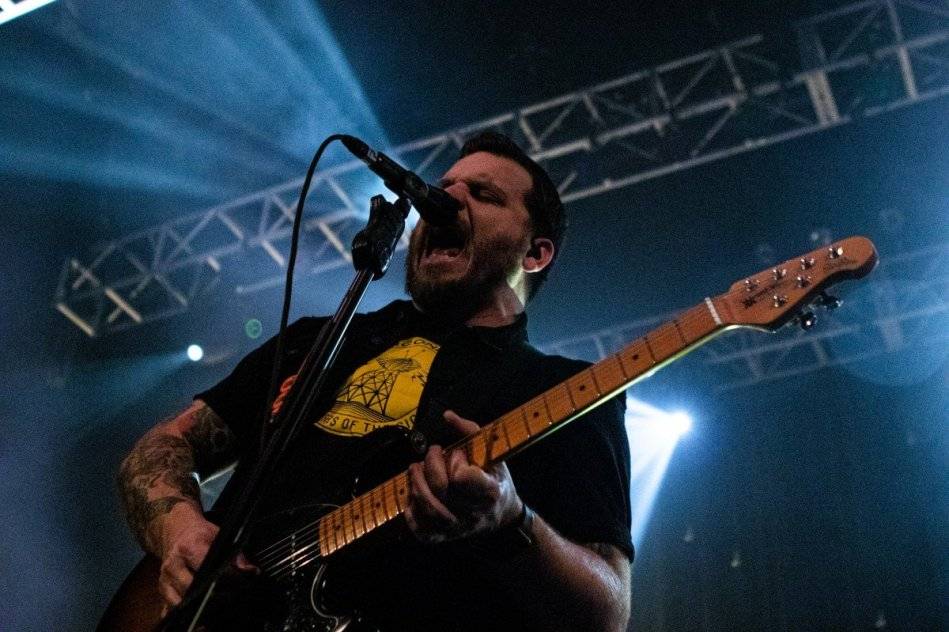 American singer Dustin Kensrue of Thrice performing at The Fox Theater in Pamona, California on February 28th 2020