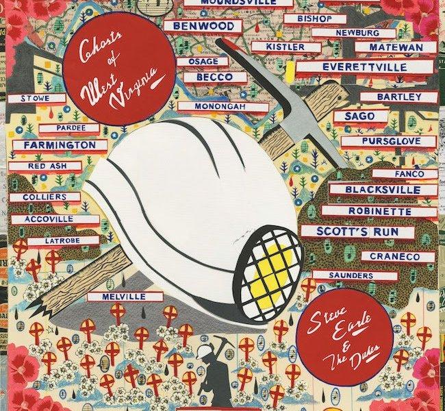 "Steve Earle & The Dukes New Album ""Ghosts of West Virginia"" 2020 album cover"