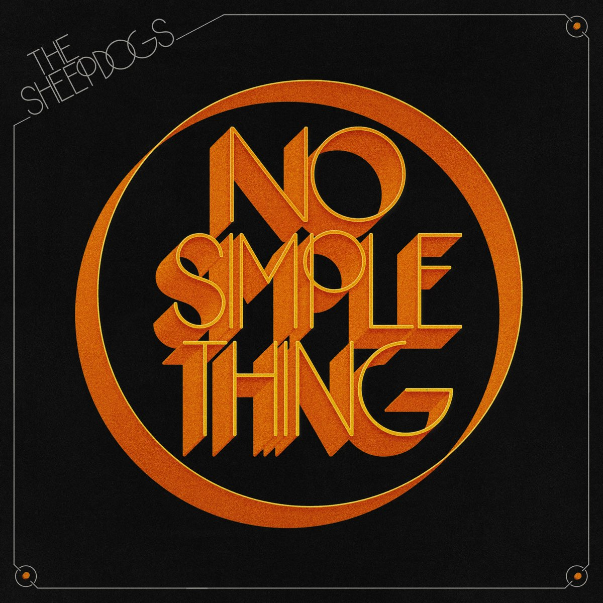 """The Sheepdogs 2021 Album """"No Simple Thing"""" cover art"""