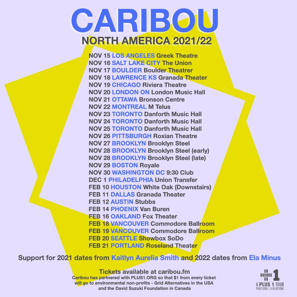caribous 2021/2022 tour dates poster admat banner