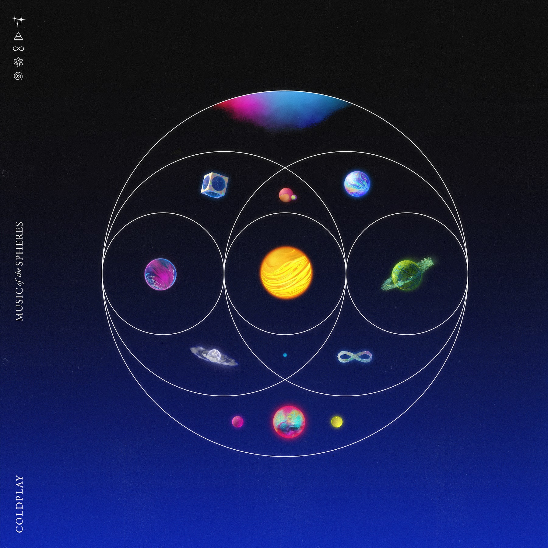 """Coldplay 2021 album """"Music Of The Spheres"""" cover art"""