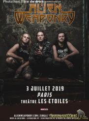 concert alien weaponry aux etoiles le 3 juillet - Alien Weaponry