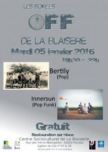 soirées off 213x300 - Bertily et Innersun aux soirées OFF de la Blaiserie