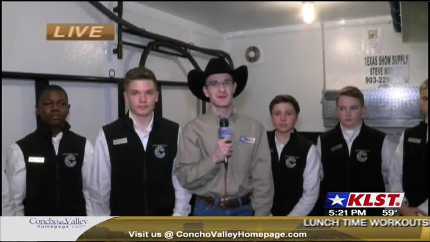 Josh Johns interviews the Collins MS Ag Mechanics Team -2/15
