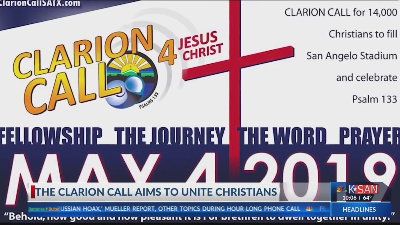 The Clarion Call aims to unite thousands of Christians