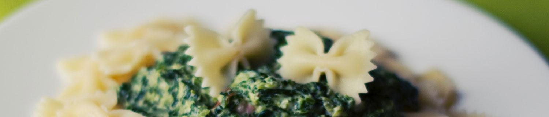 Espinacas con Pasta