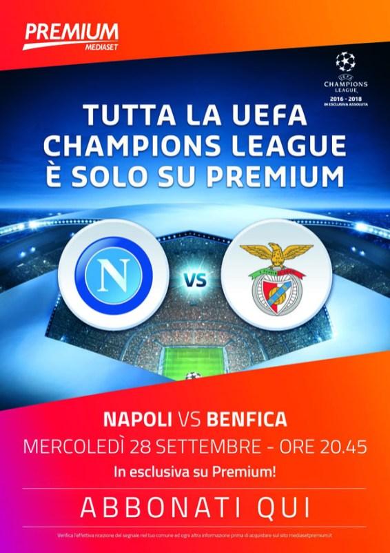 Mediaset Premium Champions League seconda giornata