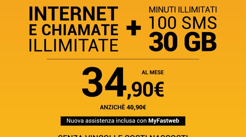 Fastweb abbatte i costi di fibra e mobile