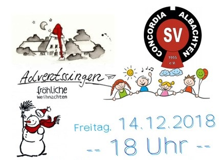 Adventssingen am 14.12. ab 18 Uhr