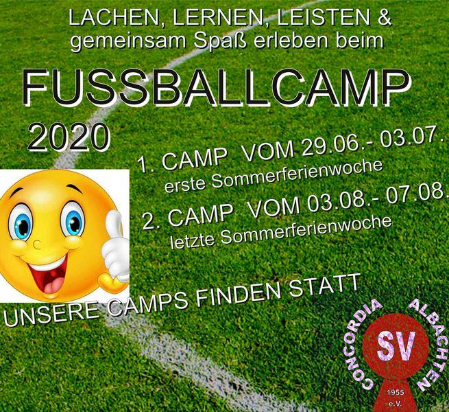 """""""Unsere Fußballcamps 2020 finden statt!"""" Wir vergeben die letzten Plätze!"""
