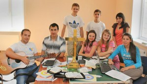 The student outreach team in Odessa, Ukraine.