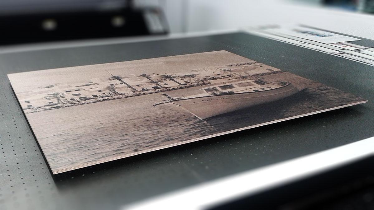 Impresión directa UVI sobre madera