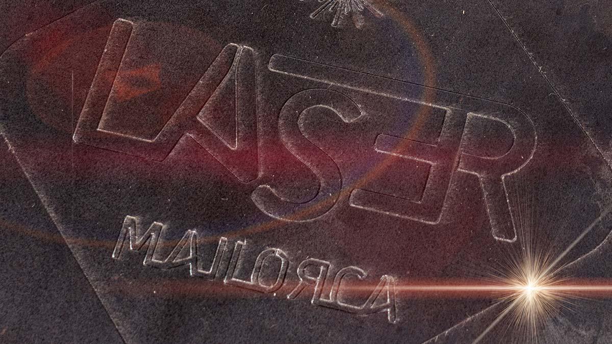 grabado láser en acero al carbono