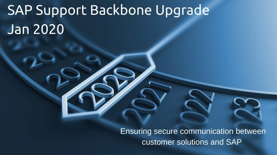SAP support backbone upgrade