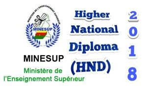 Higher National Diploma (HND) Exam Cameroon  2018