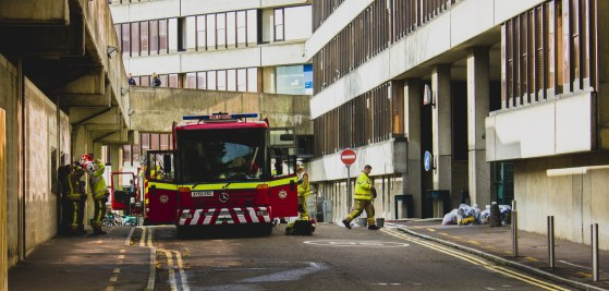 Fire at UEA chemistry building