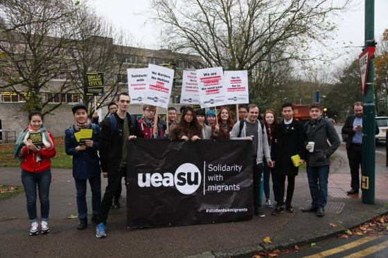 UEA students stage walkout for international solidarity