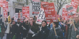 Student Debt March. Photo: Wikimedia, JamKaftan