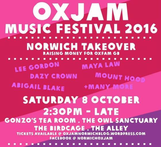 Oxjam Norwich Takeover This Saturday