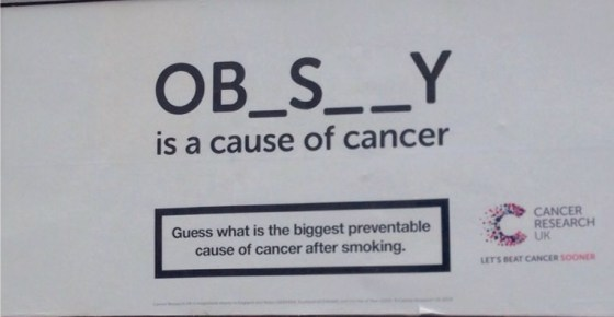 Cancer Research UK are not fat shaming