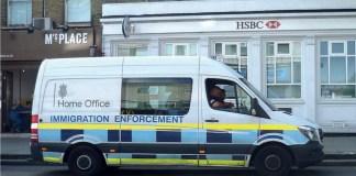 immigration enforcement van