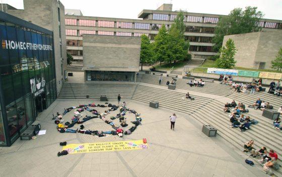 """Extinction Rebellion stage """"die-in"""" on campus"""