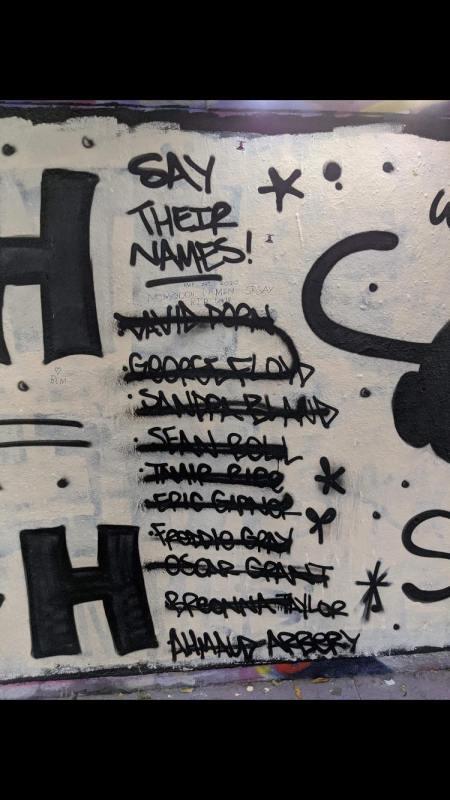 Racist graffiti emerges on Norwich BLM mural