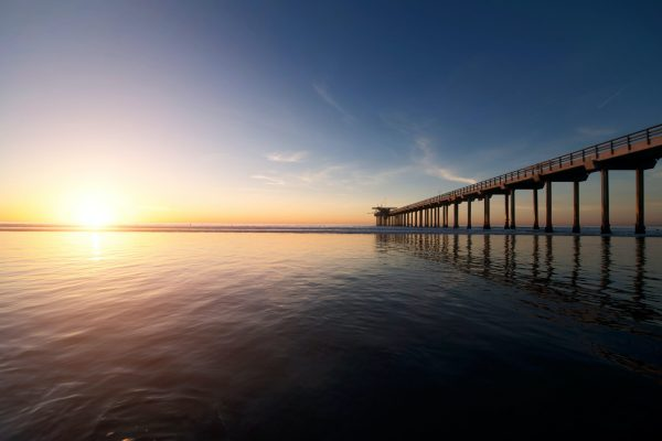 A Pier Outstretched into an Ocean